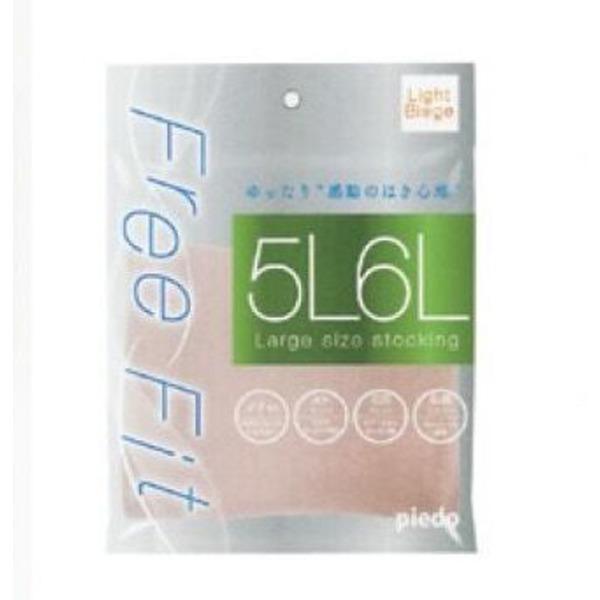 FreeFitゆったりパンスト (5L-6L・ハニーブラウン)5足組