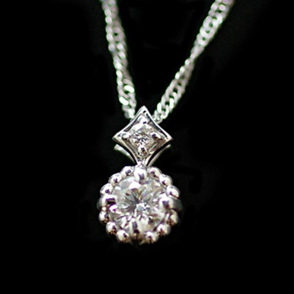 【made in japan】18金 K18WGダイヤモンドネックレス 016  プレゼント用ギフトケース入り