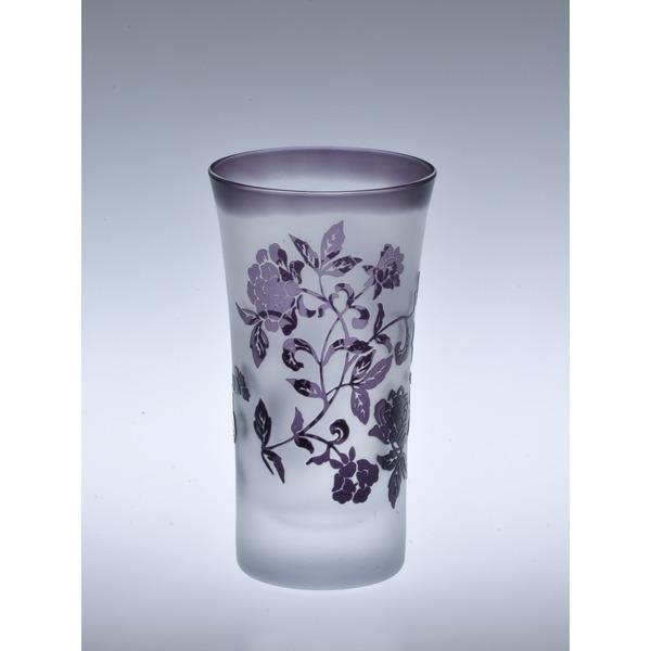 紫つるバラのビアグラス  創壽オリジナル