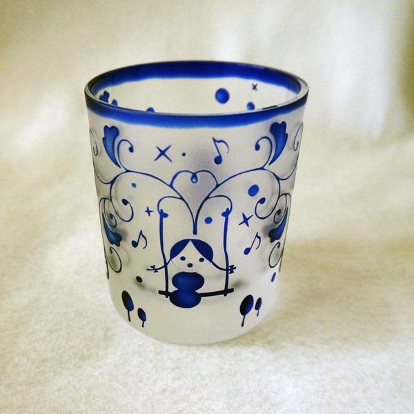 日本独自の色の表現 瑠璃のグラス 創壽オリジナル