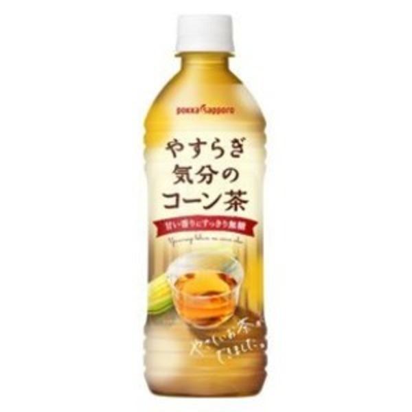 【まとめ買い】ポッカサッポロ やすらぎ気分のコーン茶 ペットボトル 500ml 24本入り(1ケース)