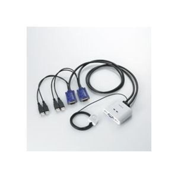 エレコム USB対応パソコン切替器 PC2台用 KVM-KUSN 1個