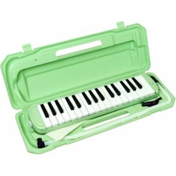 カラフル32鍵盤ハーモニカ MELODY PIANO P3001-32K ライトグリーン