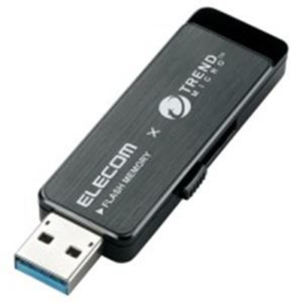 エレコム(ELECOM) セキュリティUSBメモリ黒8GB MF-TRU308GBK