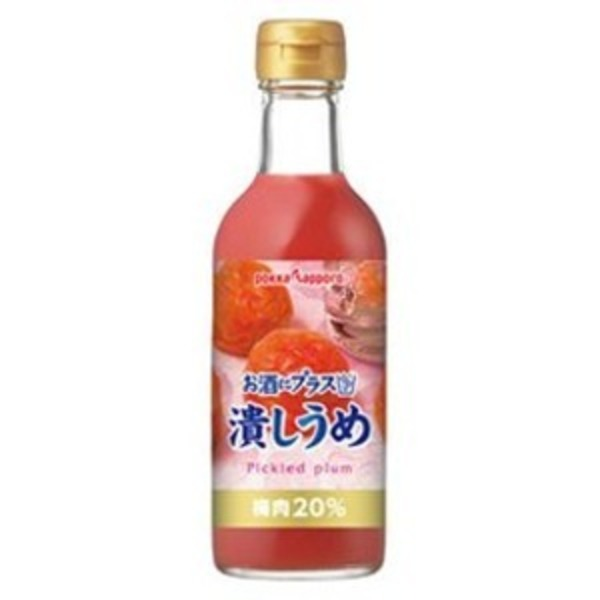 【まとめ買い】ポッカサッポロ お酒にプラス 潰しうめ 300ml 瓶 12本入り(1ケース)
