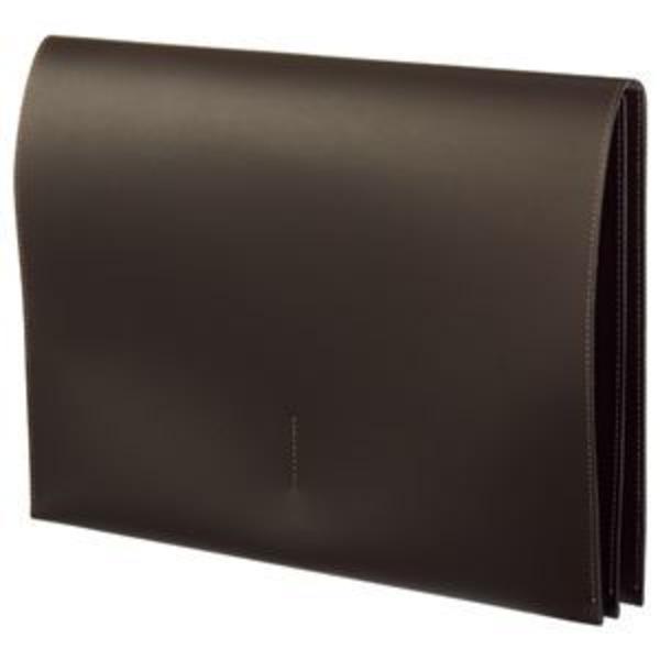 (まとめ) プロッシモ リサイクルレザー スリムレザーケース A4 ブラウン PRORSCA4BR 1冊 【×2セット】
