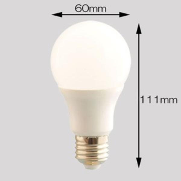 【日本製コンデンサー使用】広角LED電球 5W 40〜50W形相当 6000K 昼光色 500ルーメン 2年保証 口金E26 消費電力5W