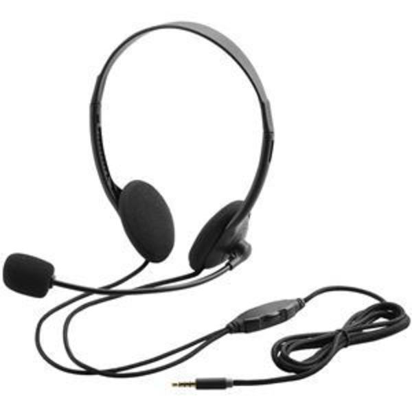 エレコム 4極ヘッドセットマイクロフォン/両耳オーバーヘッド/1.8m/ブラック HS-HP22TBK