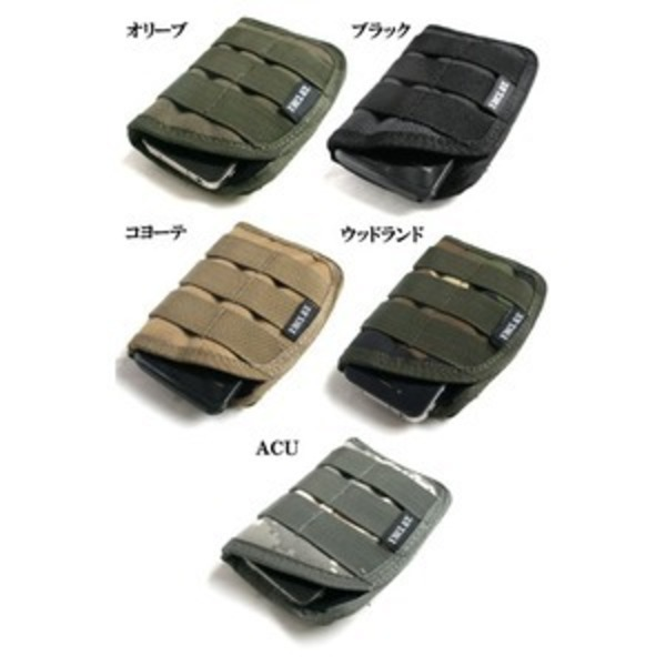 モール対応防水布使用 スマートフォンケース ウッドランド