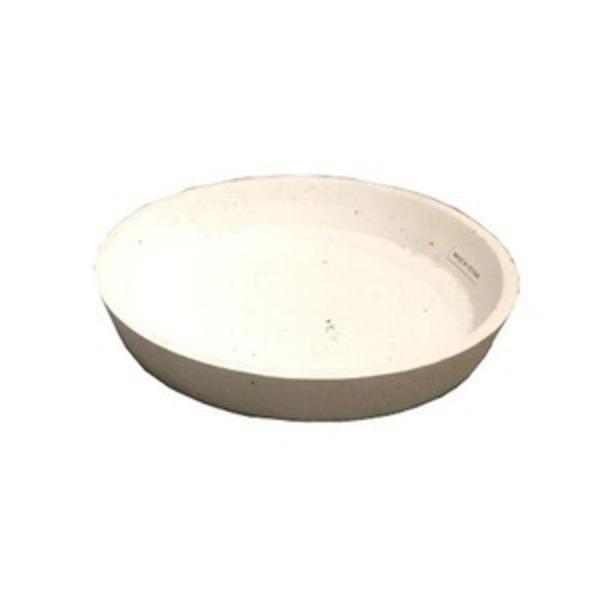 【2個入】 軽量コンクリート製 植木鉢用受皿/プランター用受皿(単品) 【ホワイト 直径34cm】 『フォリオ ソーサー』