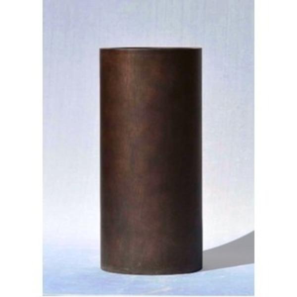 木目調樹脂製鉢カバー MOKU トールシリンダー 33xH82cm