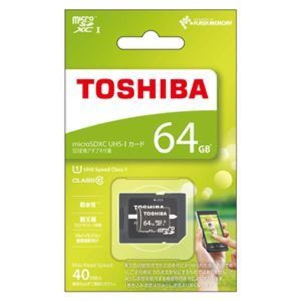 東芝 microSDXCメモリカード 64GB Class10 MSDAR40N64G
