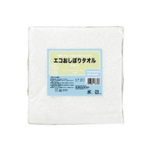 (業務用30セット) オーミケンシ エコおしぼりタオル5枚セット ホワイト9512