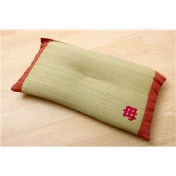 枕 まくら い草枕 消臭 ピロー 国産 『おふくろの枕 くぼみ平枕』 約50×30cm 中材:低反発ウレタンチップ