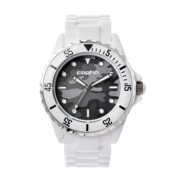 【北欧デザイン腕時計】 Copha コプハ  SWAGGER CAMO WHITE-GRAY スワッガーカモ ホワイト-グレー