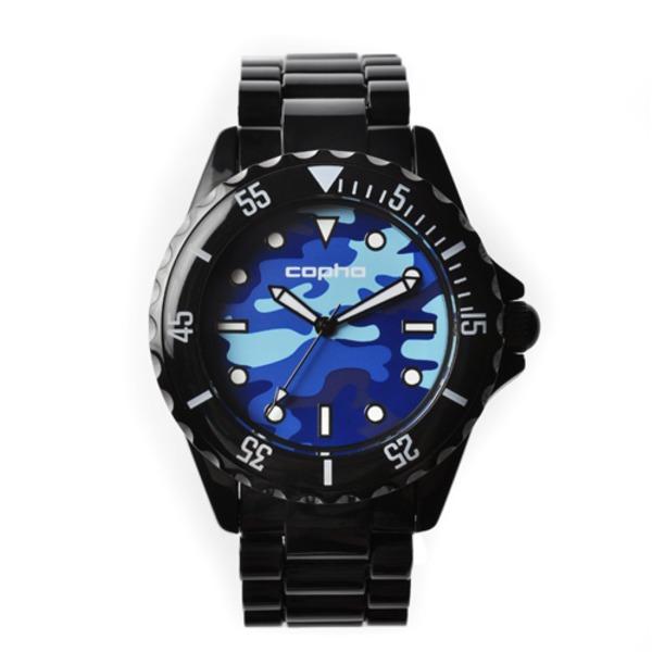 【北欧デザイン腕時計】 Copha コプハ  SWAGGER CAMO BLACK-BLUE スワッガーカモ ブラック-ブルー