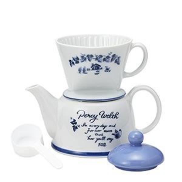 Kalita(カリタ) ツーウェイドリップセット ポエム/陶器製ドリッパー、陶器製ポット、102濾紙、茶こし、メジャーカップ 35075