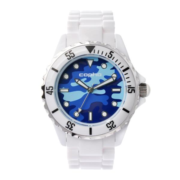 【北欧デザイン腕時計】 Copha コプハ  SWAGGER CAMO WHITE-BLUE  スワッガーカモ ホワイト-ブルー