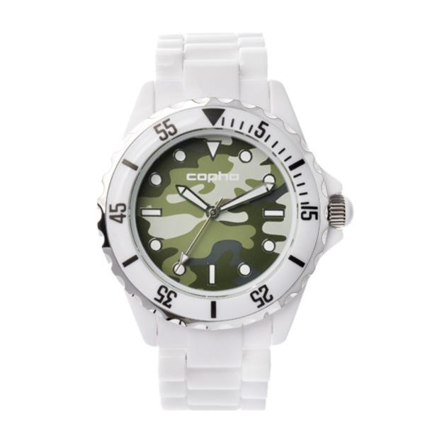 【北欧デザイン腕時計】 Copha コプハ  SWAGGER CAMO WHITE-GREEN スワッガーカモ ホワイト-グリーン