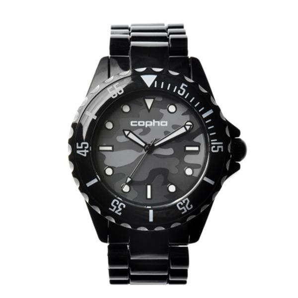 【北欧デザイン腕時計】 Copha コプハ  SWAGGER CAMO BLACK-GRAY スワッガーカモ ブラック-グレー