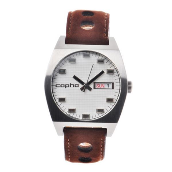 【北欧デザイン腕時計】 Copha コプハ Kult Rally Strap White×Brown カルト ラリーストラップ ホワイト×ブラウン