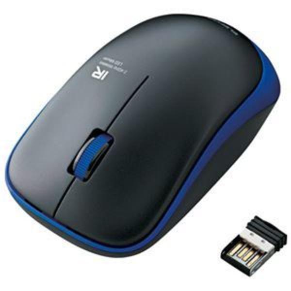 エレコム ワイヤレスLEDマウス ブルー M-IR07DRBU