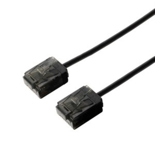 ミヨシ(MCO) カテゴリー6 ウルトラスリムLANケーブル TWS-U602BK 2m ブラック 【3本セット】
