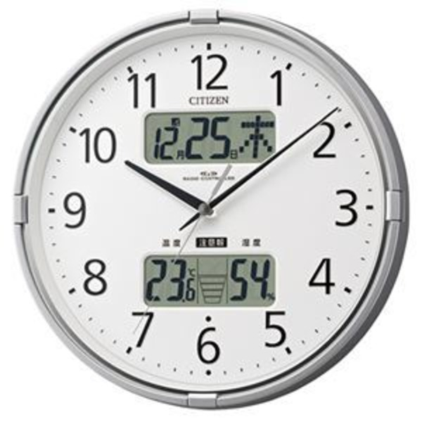 リズム時計 シチズン電波掛時計 4FY618-019