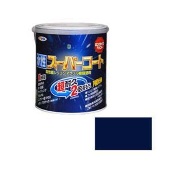 アサヒペン AP 水性スーパーコート 1.6L なす紺
