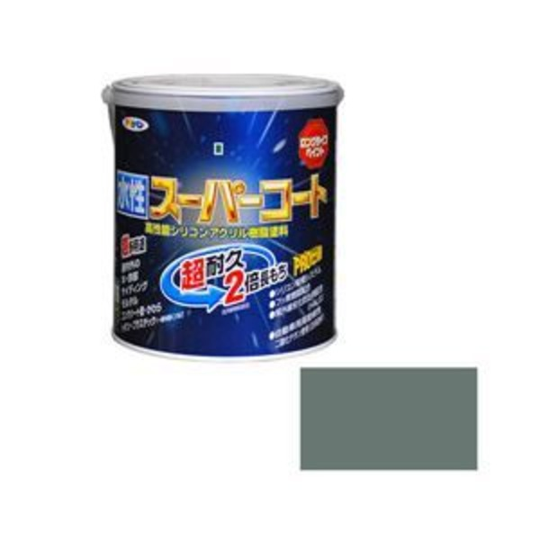 アサヒペン AP 水性スーパーコート 1.6L ライトグレー