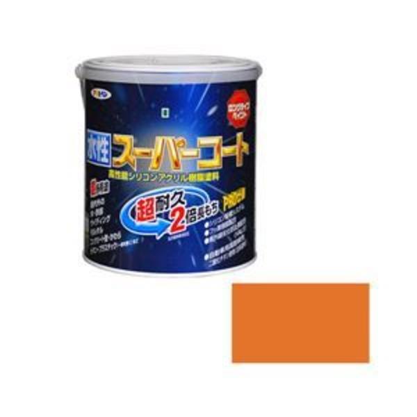 アサヒペン AP 水性スーパーコート 1.6L ラフィネオレンジ