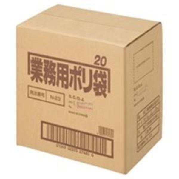 (業務用5セット) 日本サニパック ポリゴミ袋 N-23 透明 20L 10枚 60組
