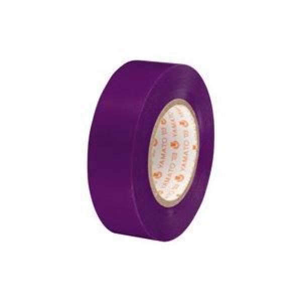 (業務用300セット) ヤマト ビニールテープ/粘着テープ 【19mm×10m/紫】 NO200-19