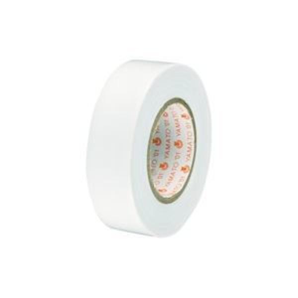 (業務用300セット) ヤマト ビニールテープ/粘着テープ 【19mm×10m/白】 NO200-19