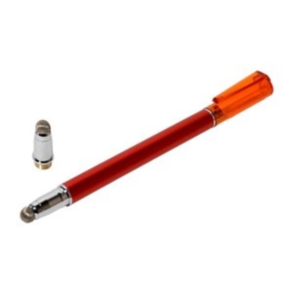 ミヨシ(MCO) 先端を交換できるタッチペン なめらかタイプ レッド STP-L01/RD 【3本セット】