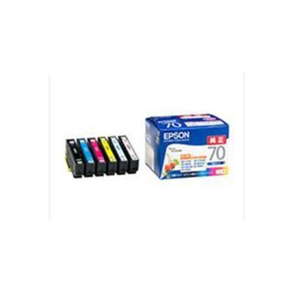 【 純正品 】 EPSON エプソン インクカートリッジ 【IC6CL70 6色パック】