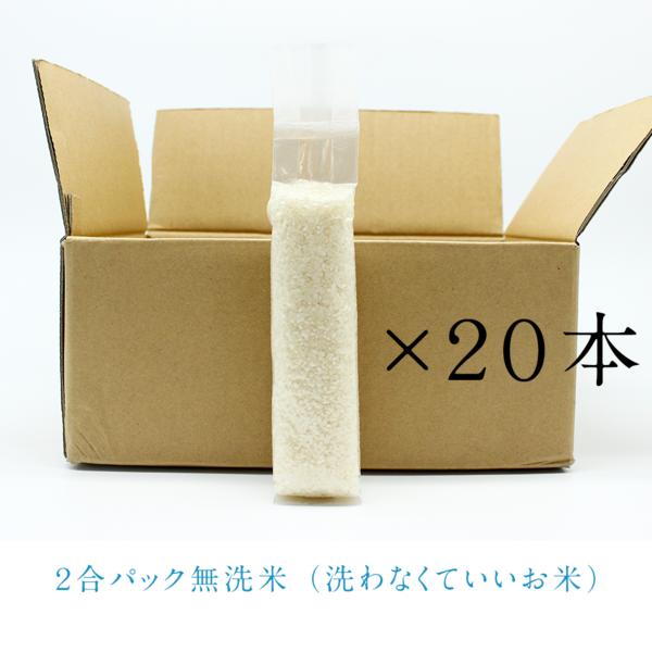 令和元年新米【無洗米】京丹後市の美味しいお米2合パック×20本