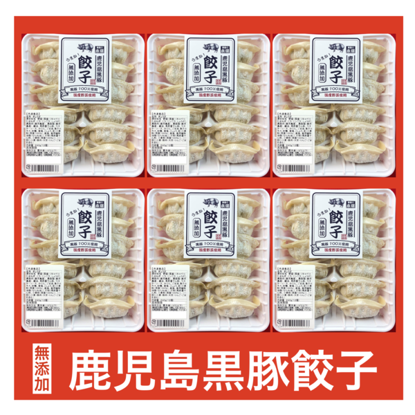 【無添加 鹿児島黒豚生餃子】240g(12個)×6パックセット 冷凍