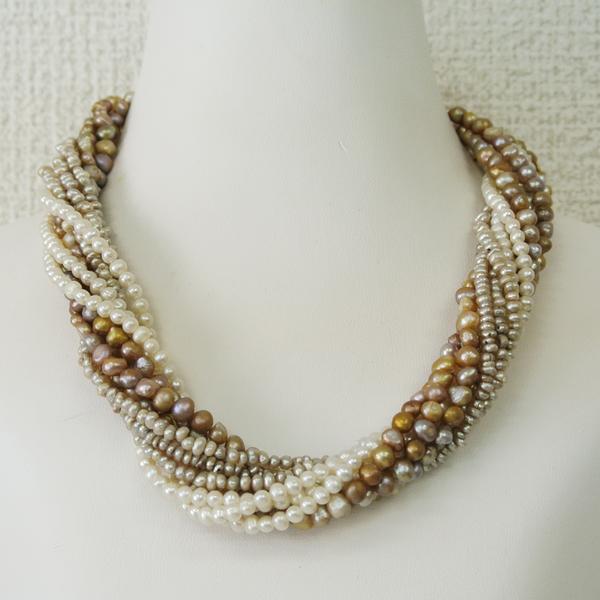 プリエ デザイナーズ 淡水真珠ネックレス