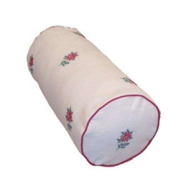 ボルスタークッション/腰枕 【18R×40cm レッド】 洗えるカバー 『オロペサ』