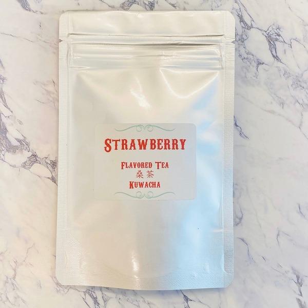 桑茶フレーバーティー ストロベリー ノンカフェイン 100%オーガニック