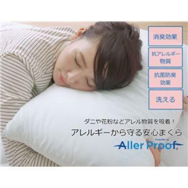 枕 寝具 抗菌防臭 アレル物質吸着 『ヌード アレルプルーフ』 約43×63cm