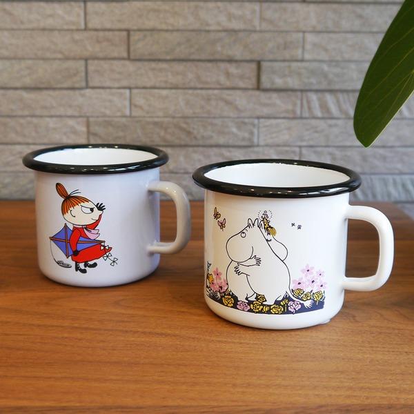 ムーミン ホーローマグカップ【リトルミイ&ハグ】