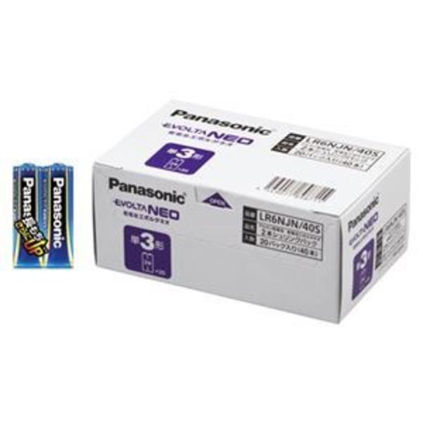 パナソニック EVOLTA NEO アルカリ乾電池 単3形 40本パック LR6NJN/40S