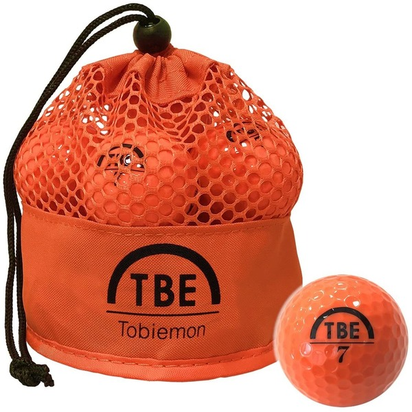 メッシュバック入り!ゴルフボール 公認球 2ピース 1ダース(12個入り) ×12袋 オレンジ