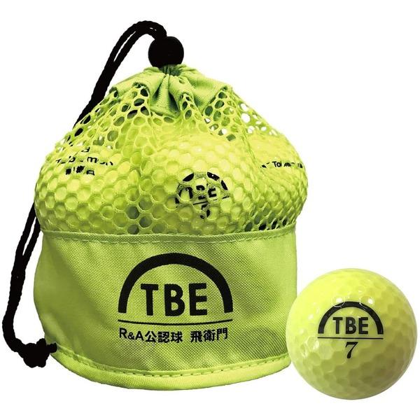 メッシュバック入り!ゴルフボール 公認球 2ピース 1ダース(12個入り) ×12袋 イエロー