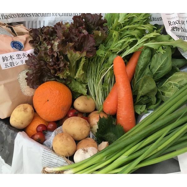 特選米&有機野菜くだもの (白米2kg有機野菜くだもの10品)