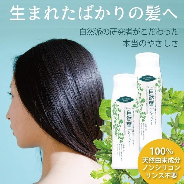 【天然由来100%で洗うたびに髪質向上・2本セット】自然葉シャンプー リンス不要・ヘナの色持ちup