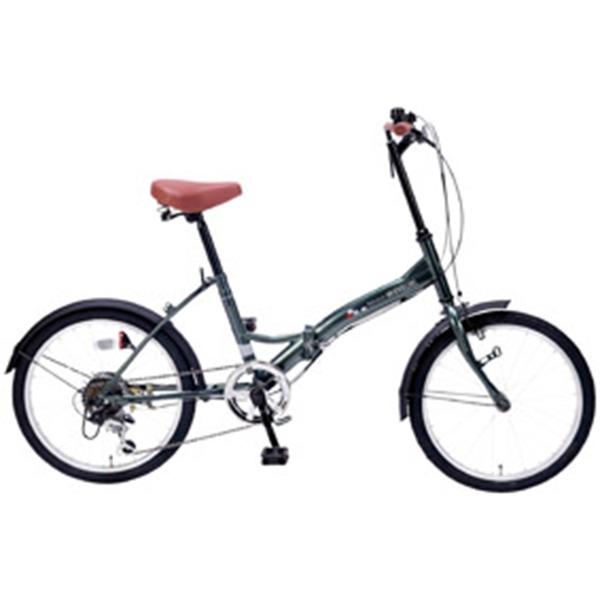 コロナの時代に人気殺到! シマノ製6段ギア付20インチ折り畳み自転車(セージグリーン)