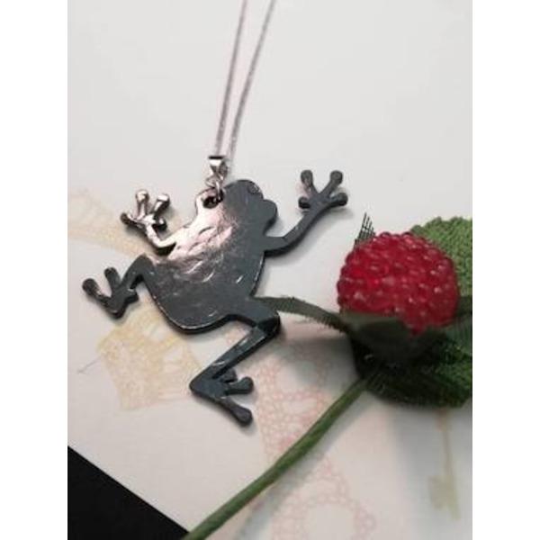 """南部鉄黒染めアクセサリー """"蛙""""~Kaeru~「お金がカエル・福がカエル・無事にカエル」"""